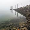 Foggy Cowichan Bay Boat Ramp