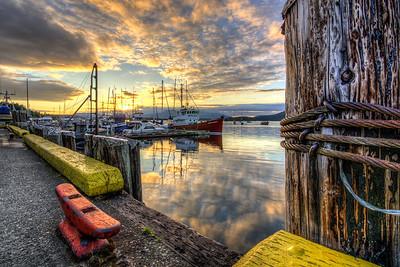 Pier Sunset, Cowichan Bay