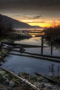 Frosty Estuary Sunrise, Cowichan Bay