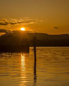 Warm Glow Sunset, Cowichan Bay