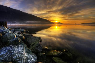 Estuary Trail Sunrise, Cowichan Bay