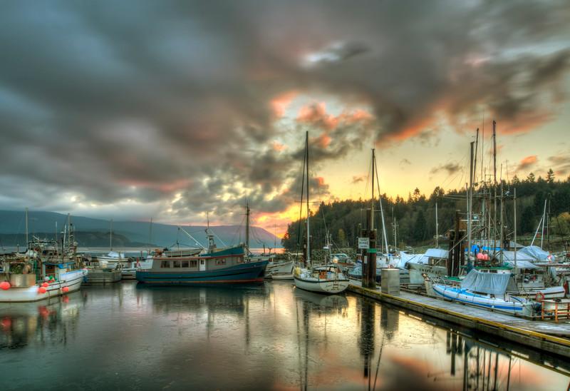 Frosty Cowichan Bay Sunrise