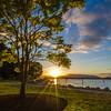 Backlit Cowichan Bay Sunset