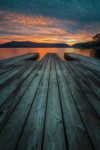 Sunrise from the kayak dock, Cowichan Bay