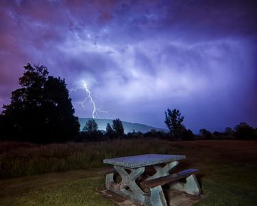 Lightning Strike from Maple Grove Park