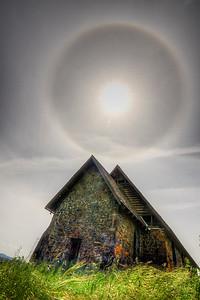 Sundog over the Butter church