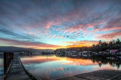 Shared Sunrise in Cowichan Bay
