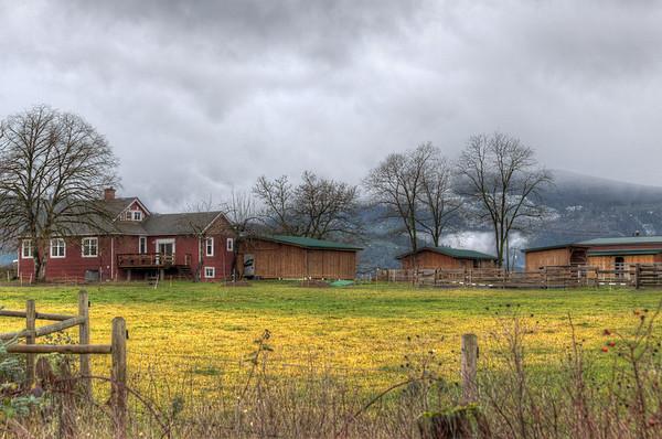Cowichan Valley Farm - Cowichan Valley, Vancouver Island, British Columbia, Canada