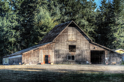 Wood Barn - Topaz Texture Effects 2 - Grunge Punch - Cowichan Valley, Vancouver Island, British Columbia, Canada