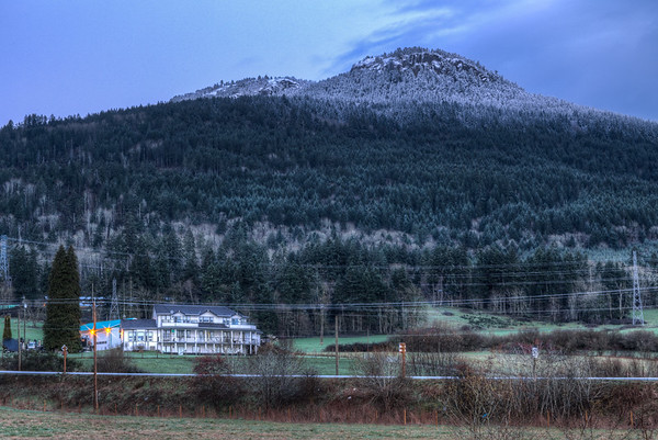 Early Morning - Mt Prevost In The Blue Hour, Duncan, Cowichan Valley, Vancouver Island, British Columbia, Canada