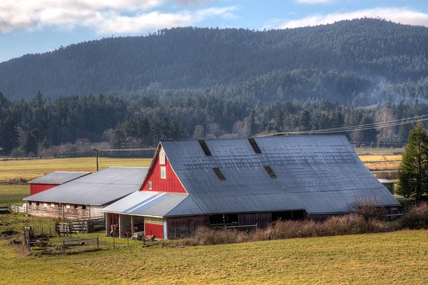 Red Barn - Cowichan Valley, Vancouver Island, BC, Canada