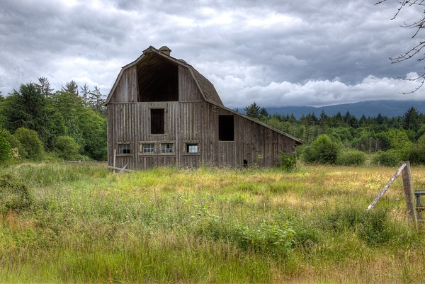 Old Wooden Character Barn - Vancouver Island, BC, Canada