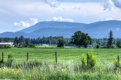 Island Farm Landscape - Vancouver Island, British Columbia, Canada