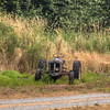 Tractor In A Field - Vancouver Island, British Columbia, Canada