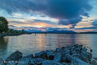 Cowichan Bay sunset July 18, 2014 (ND) #3