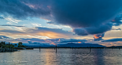 Cowichan Bay sunset July 18, 2014 (ND) #2