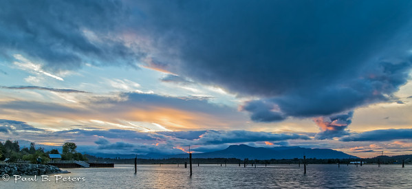 Cowichan Bay sunset July 18, 2014 (ND) #1