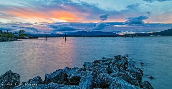 Cowichan Bay sunset July 18, 2014 (ND) #5