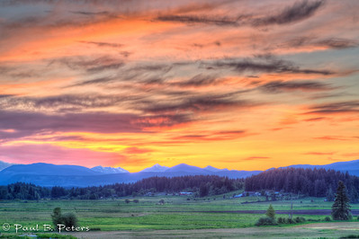 Cowichan Valley sunset May 17, 2014