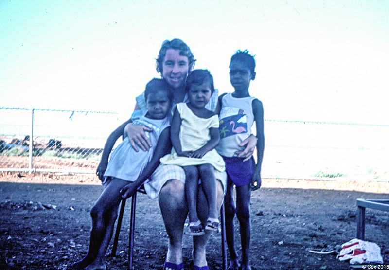 Shirley with Eva and John Nargoodah's children