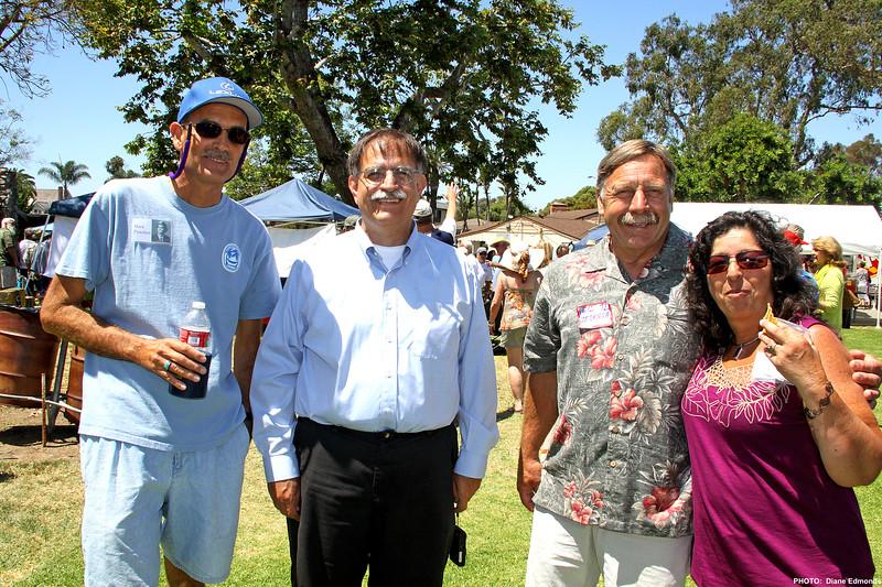 HBHS 'All Years' Reunion Picnic - Lake Park<br /> Mark Pynchon, ?, Neil Zeilenga, Lynn Alvarez McCall - Class of 1972