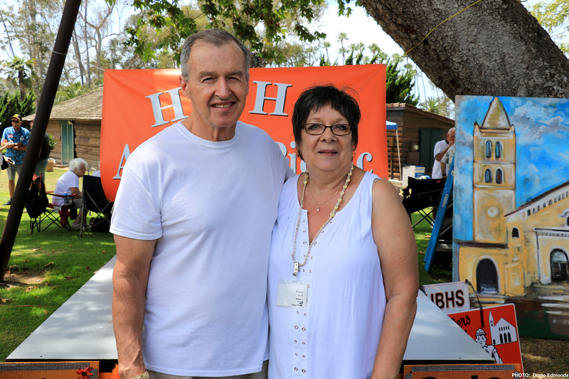 2019-07-28_HBHS Reunion_10_Mark Abell_Robin Self Wolkey '69.JPG<br /> Huntington Beach High School All-Years Reunion Picnic<br /> <br /> High school sweethearts who reconnected and married 7 years ago!