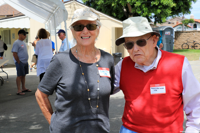 2019-07-28_HBHS Reunion_18_Susan Rock '54_Jack Folmar '53.JPG<br /> Huntington Beach High School All-Years Reunion Picnic