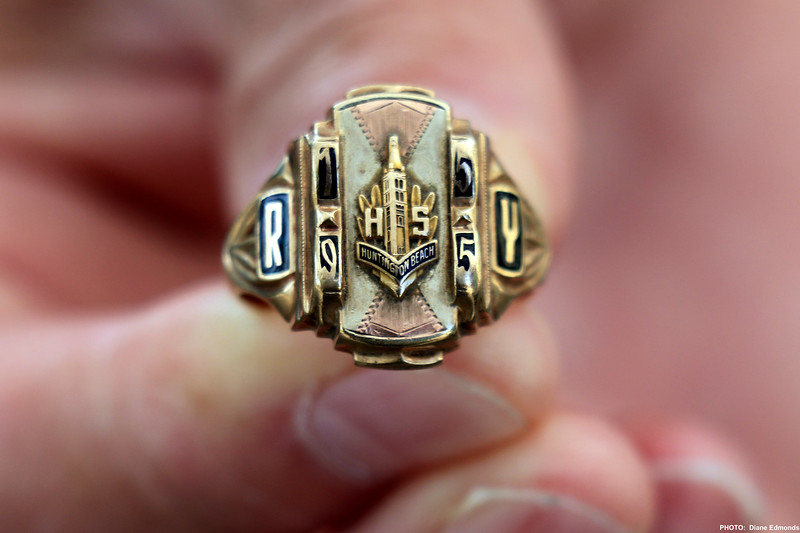 2019-07-28_HBHS Reunion_21_Found Ring '55.JPG<br /> Huntington Beach High School All-Years Reunion Picnic<br /> <br /> Mark Abell found this ring in an apartment many years ago - can anyone help find the owner?  Class of 1955, initials RY