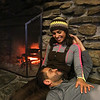 Cozy bars: The Outlook restaurant at Nashoba Valley Ski Area. Valcine Fazio of Revere and her boyfriend Adriano DePaula of Medford hang out by the fireplace. (SUN/Julia Malakie)