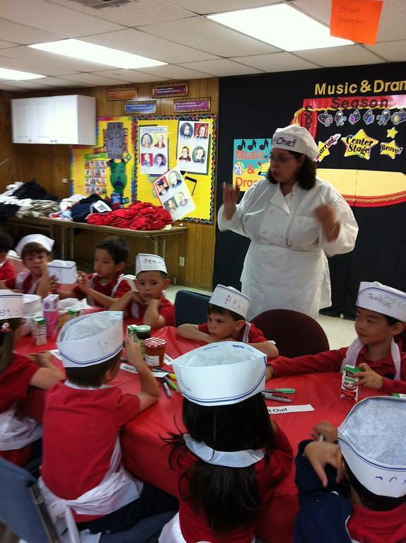 Crêpes with Kindergarteners at Oakridge Private School