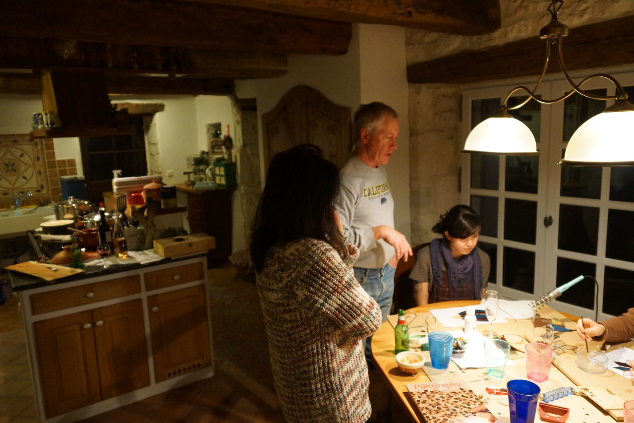Crafts went on late into the evening.