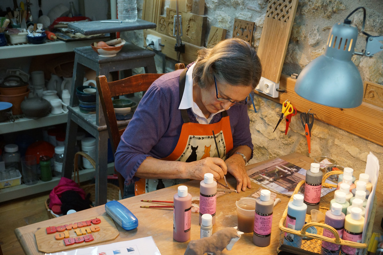 Crafts in the  morning and afternoon - some late into the evening...
