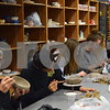 Sycamore High School students work on clay bowls during art class on Feb. 24. The bowls, created as part of the Empty Bowls Project, will be sold during an event on April 19 to raise money for the Sycamore Food Pantry.