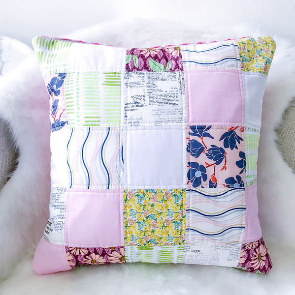 Quilting: Vintage Square Quilted Cushion Cover