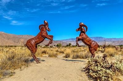Metal Art Sculptures of Borrego Springs