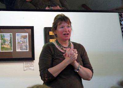 Liesel Lund did a demo on watercolor sketching at Daniel Smith, Seattle.
