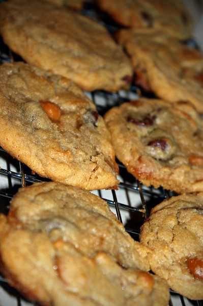 0118 Chocolate chip and carmel bit cookies.