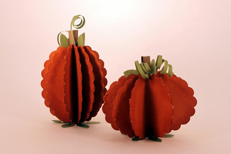 Cute little pumpkins made at the October Make & Take at Shelli's.