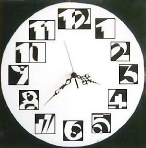 black&white clock