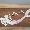 Mermaid Acrylic Pour Tide Clock