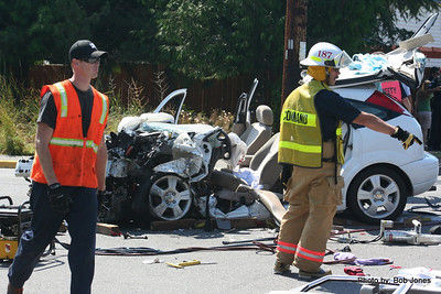 Roll over wreck on Orleans at North 7/29/2009
