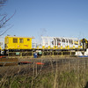 Network Rail 7091310034 which is part of the piling rig set up for the GWML at High Marnham on 28th Dec 2013