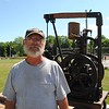NASHOBA VALLEY VOICE/ANNE O'CONNOR<br /> Crank Up, a show with engines, tractors and much else, has been in Pepperell every summer since 1975. Dave Harper, a retired shop teacher living in Plympton, Mass. brought along his working 1917 Fairbanks and Morse domestic water pump.
