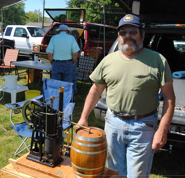 NASHOBA VALLEY VOICE/ANNE O'CONNOR<br /> Crank Up, a show with engines, tractors and much else, has been in Pepperell every summer since 1975. Steve Desreuisseau of Orange built this replica scale model from a kit designed in Eliot, Maine.