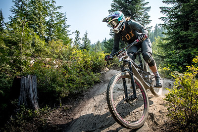 Aleda Toronitz. Bell Helmets Canadian Open Challenger Enduro presented by CamelBak. Crankworx Whistler 2017. Photo by: Scott Robarts
