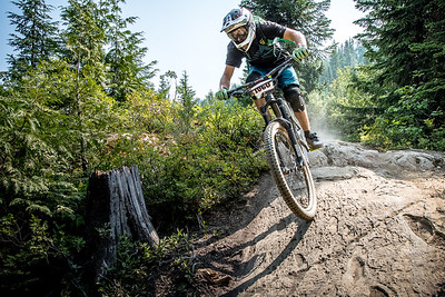 Thomas Jedrezlas. Bell Helmets Canadian Open Challenger Enduro presented by CamelBak. Crankworx Whistler 2017. Photo by: Scott Robarts