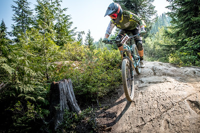 Xylena Hoppen. Bell Helmets Canadian Open Challenger Enduro presented by CamelBak. Crankworx Whistler 2017. Photo by: Scott Robarts