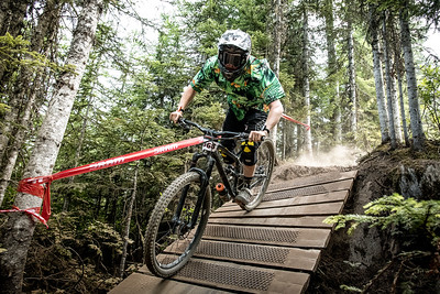 Riairdh McRitchie. Bell Helmets Canadian Open Challenger Enduro presented by CamelBak. Crankworx Whistler 2017. Photo by: Scott Robarts