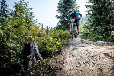 Kyle Chapman. Bell Helmets Canadian Open Challenger Enduro presented by CamelBak. Crankworx Whistler 2017. Photo by: Scott Robarts