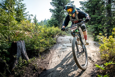 Lucy Schick. Bell Helmets Canadian Open Challenger Enduro presented by CamelBak. Crankworx Whistler 2017. Photo by: Scott Robarts